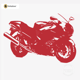 Motorcycle Wall Decal - Sport Bike Sticker #00004 - Red