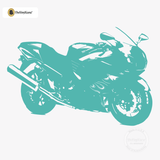 Motorcycle Wall Decal - Sport Bike Sticker #00004 - Turquoise