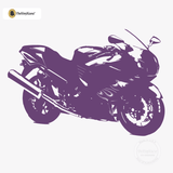 Motorcycle Wall Decal - Sport Bike Sticker #00004 - Violet