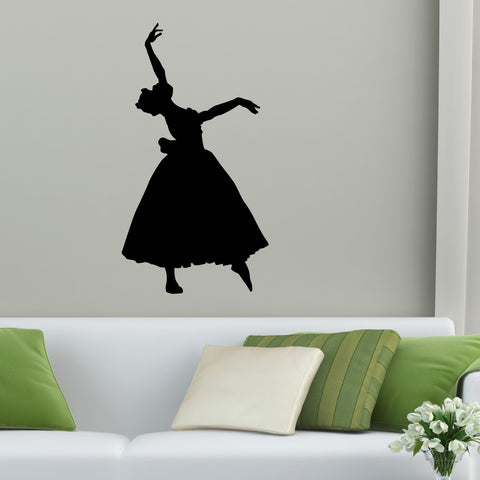 Dancer Ballerina Dance Wall Decal Sticker 1