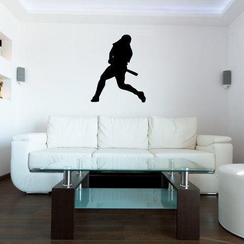 Baseball Batter Wall Decal Sticker on living room wall