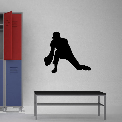 Baseball Fielder Wall Decal Sticker on gym room wall
