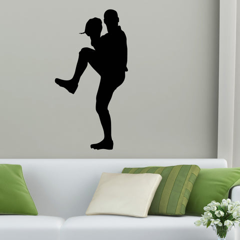 Baseball Fielder Wall Decal Sticker on living room wall : wall decals stickers - www.pureclipart.com