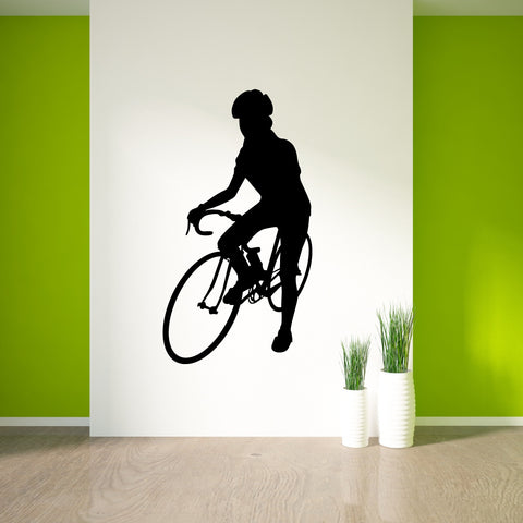 Bicycling Cycling Bicycle Wall Decal Sticker 1