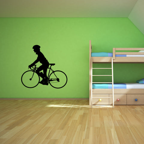 Bicycling Cycling Bicycle Wall Decal Sticker 2