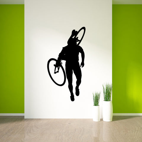 Bicycling Cycling Bicycle Wall Decal Sticker 12