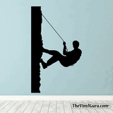 Rock Climbing Wall Decal - Man Mountain Climber Sticker #00018