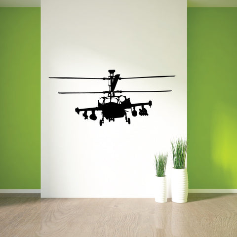 Helicopter War Plane Wall Decal Sticker 1