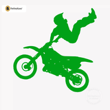 Motocross Wall Decal - Dirt Bike Sticker #00001 - Kelley Green