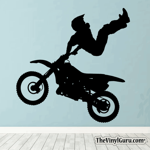 Motocross Wall Decal - Dirt Bike Sticker #00001