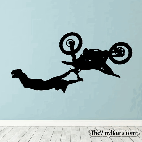 Motocross Wall Decal - Dirt Bike Sticker #00004