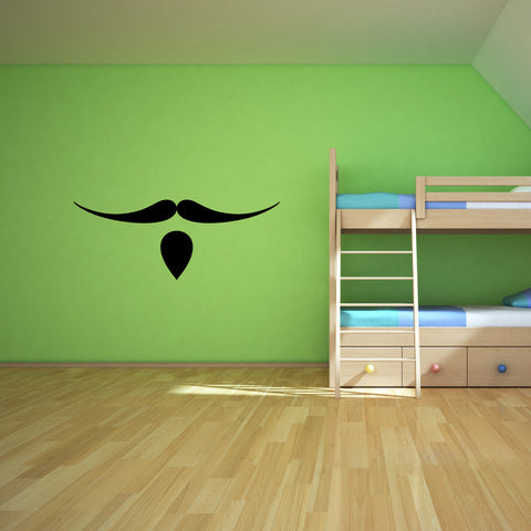 Mustache Wall Decal Sticker 1