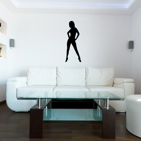 Sexy Girl Pin Up Wall Decal Sticker 4