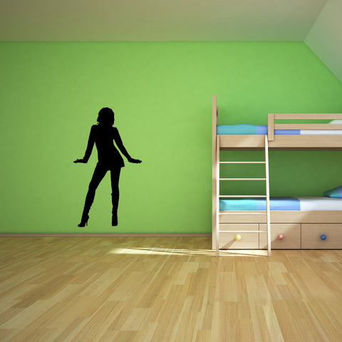 Sexy Girl Pin Up Wall Decal Sticker 5