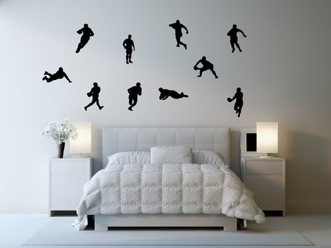 Rugby Wall Decal Sticker 12 - Set of Ten