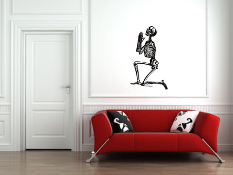 Human Skeleton Praying Wall Decal Sticker 1