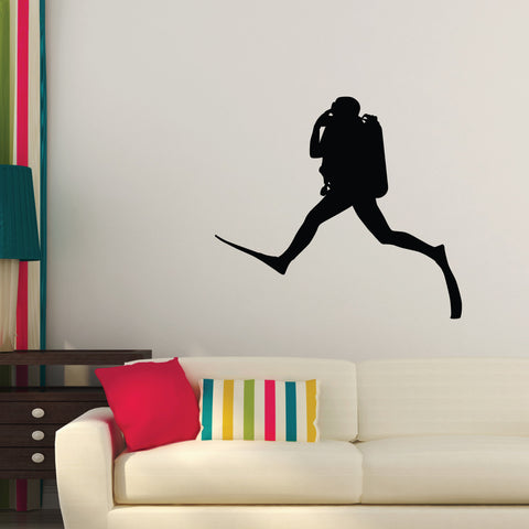 Scuba Diving Wall Decal Sticker 1