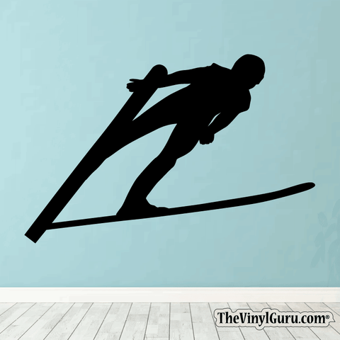 Skiing Wall Decal - Ski Sticker #00002