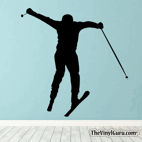 Skiing Wall Decal - Ski Sticker #00006
