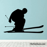 Skiing Wall Decal - Ski Sticker #00007