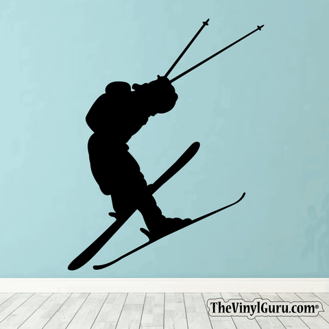 Skiing Wall Decal - Ski Sticker #00009