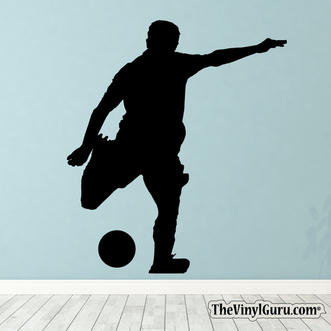Soccer Wall Decal - Man Futbol Player Sticker #00001