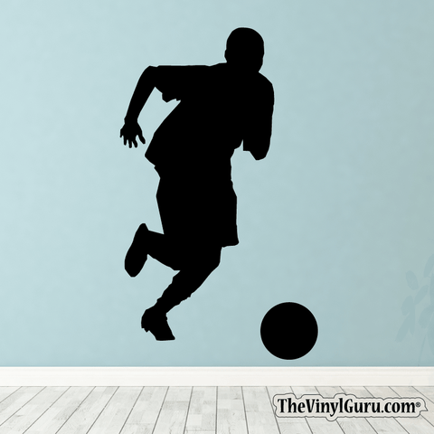 Soccer Wall Decal - Man Futbol Player Sticker #00002