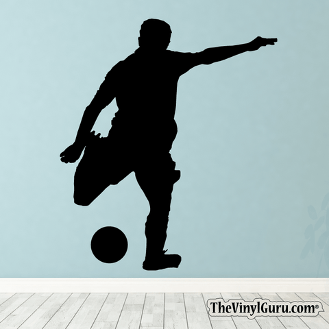 Soccer Wall Decal - Man Futbol Player Sticker #00003