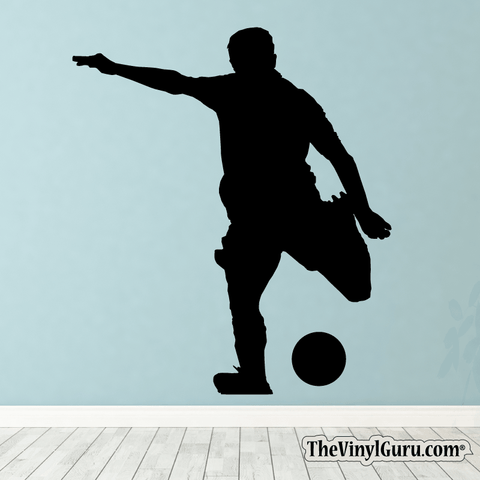 Soccer Wall Decal - Man Futbol Player Sticker #00004