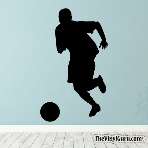 Soccer Wall Decal - Man Futbol Player Sticker #00005