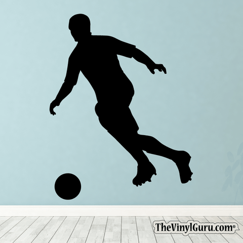 Soccer Wall Decal - Man Futbol Player Sticker #00016