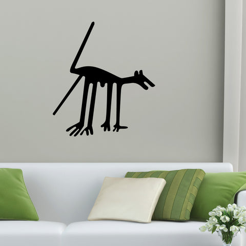 Nazca Lines Dog Tribal Wall Decal Sticker 8