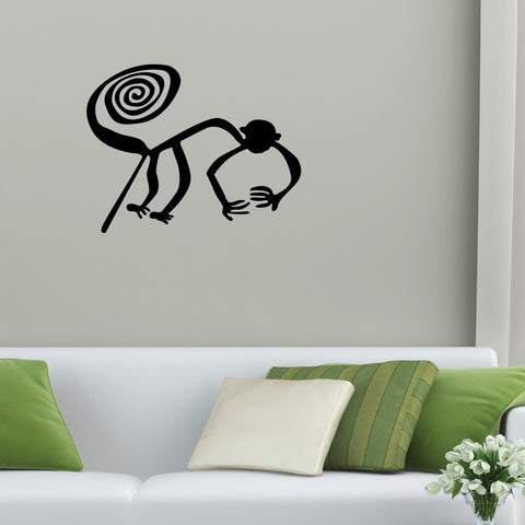 Nazca Lines Monkey Tribal Wall Decal Sticker 11