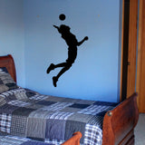 Volleyball Wall Sticker Decal - Male Player Hitter Silhouette Decoration