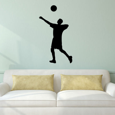 Volleyball Wall Sticker Decal - Male Player Setter Silhouette Decoration