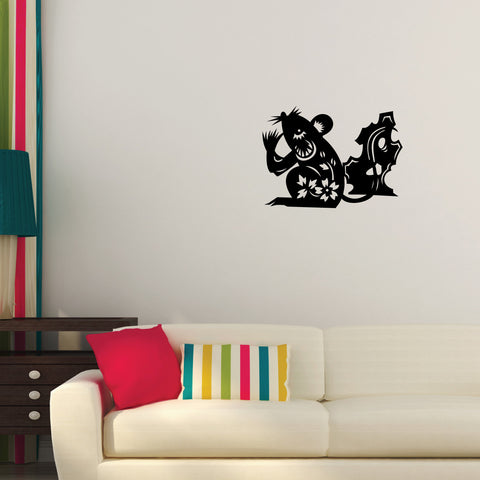 Rat Chinese Zodiac Wall Decal Sticker 1