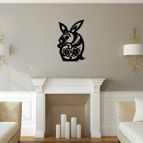 Rabbit Chinese Zodiac Wall Decal Sticker 4
