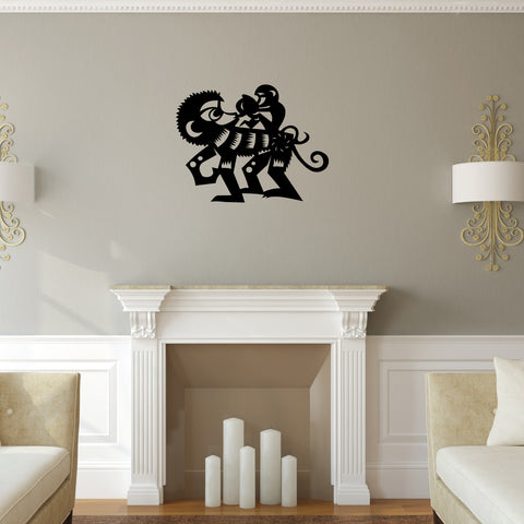 Monkey Chinese Zodiac Wall Decal Sticker 9