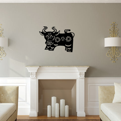 Ox Chinese Zodiac Wall Decal Sticker 14