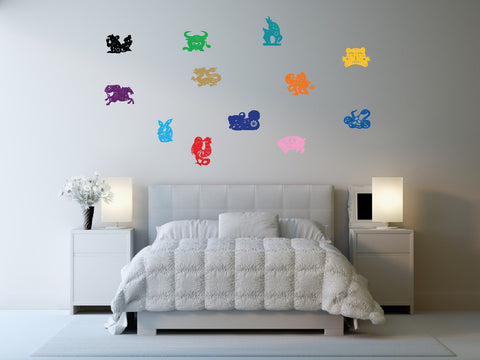 Chinese Zodiac Wall Decal Sticker Set 1