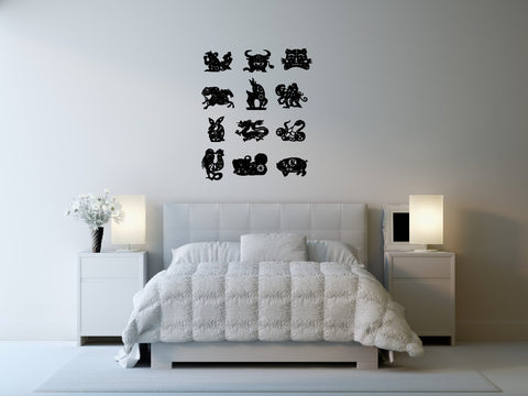 Chinese Zodiac Wall Decal Sticker Set 2
