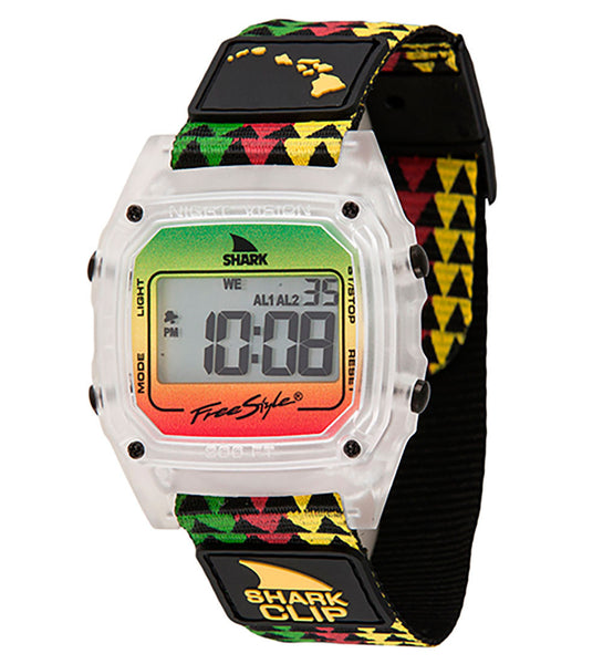 Freestyle Shark Clip Hawaii Digital Display Japanese Quartz Black Watch (10022119)