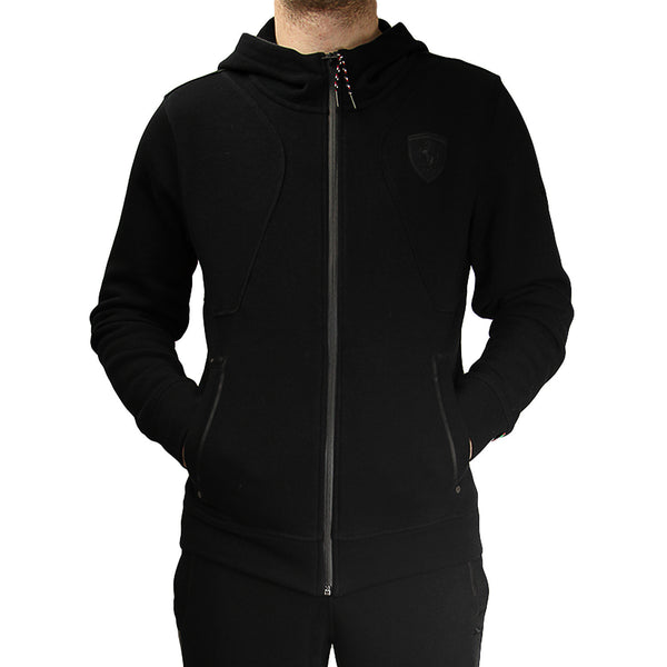Puma Ferrari Hoodie Hooded Sweat Jacket - Black (Mens)