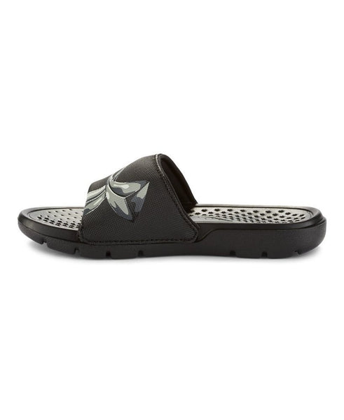 Under Armour UA Strike Chrome Slide Sandal - Black/Aluminum/Steel - Boys
