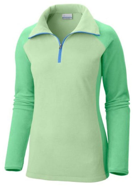 Columbia Glacial Fleece III 1/2 Zip Pullover - Key West/ Chameleon Green - Womens