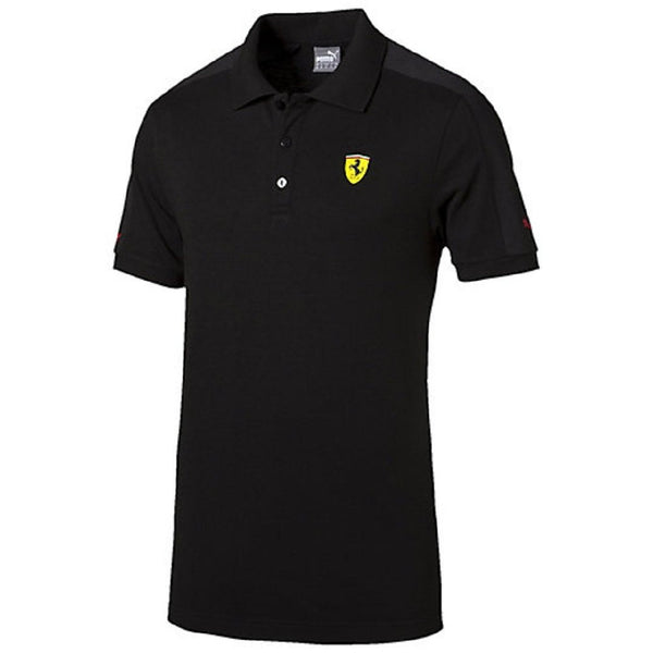 Puma Scuderia Ferrari Athletic Polo Shirt - Black - Mens