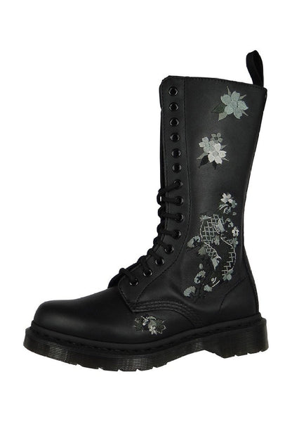 Dr. Martens Anissa 14 Eyelets Boot - Black Softy T - Womens