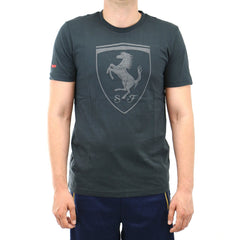 Puma Ferrari Big Shield Short-Sleeve Shirt Fashion Tee - Moonless Night - Mens