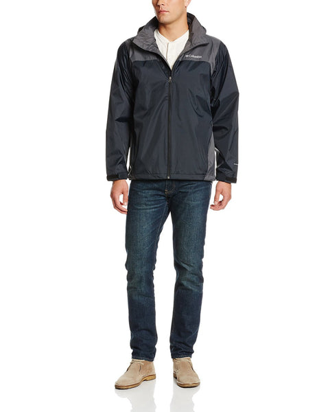 Columbia Glennaker Lake Front-Zip Rain Jacket with Hideaway Hood - Men's