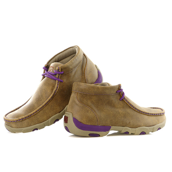 Twisted X Bomber Leather Driving Mocs - Women's